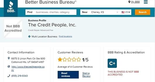 credit people bbb ratings